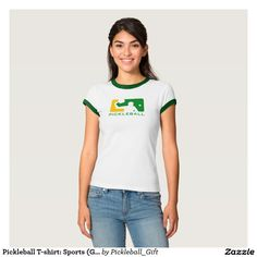 Pickleball T-shirt: Sports (Green)  - 30% off with code ZCUSTOMGIFTS - ends 12/14
