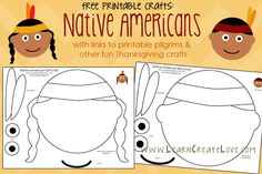 7 Best Images of Printable Thanksgiving Arts And Crafts - Free Printable Turkey Masks, Printable Native American Crafts and Easy Thanksgiving Crafts for Kids Printable Thanksgiving Preschool, Thanksgiving Art, Preschool Crafts, Crafts For Kids, Pilgrims And Indians, November Crafts, Native American Crafts, Indian Crafts, Nativity
