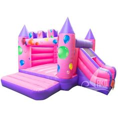 AKD Balloon Castle bouncy castle with slide without roof - Fam Children Bouncy Castle, Bunt, Balloons, Party, Children, Outdoor Decor, Berlin, Lol, Events