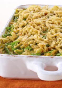 Classic Green Bean Casserole -- Can you even imagine a holiday without green bean casserole? Don't try. The cheesy, crunchy classic recipe is deliciously easy to make and even easier to enjoy.