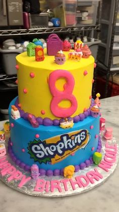 Fyuse - Shopkins birthday cake.
