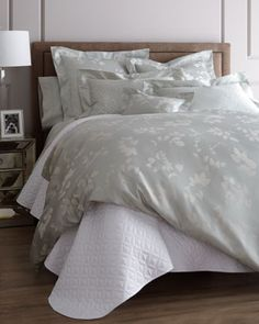 """""""Foglia"""" Bed Linens by Nancy Koltes at Horchow."""