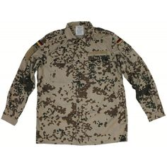 b2b60fdf5e1 German Desert Flecktarn Field Shirt- Used