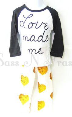 Love Made Me Leggings Set 6-9m  http://www.sassnfrass.net#Tinasea