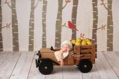 THIS TRUCK with a sitter for holiday sessions... oh em gee!!  Truck Photo Prop Newborn Photography Prop Newborn by MrAndMrsAndCo