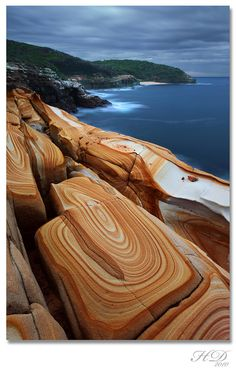 Liesegang Rings, Bouddi National Park, New South Wales, Australia