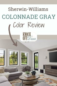Colonade Gray Sherwin Williams, Sherwin Williams Collonade Gray, Modern Gray Sherwin Williams, Popular Paint Colors, Grey Paint Colors, Exterior Paint Colors, Paint Colors For Home, Grey Exterior, Modern Exterior
