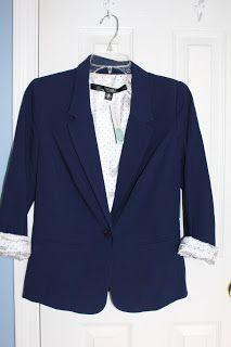 I would love this blazer in navy! Stitch Fix February 2016 Kensie Rebekah Stretch Crepe Blazer