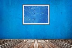 Absract Blue Frame Art Picture decoration