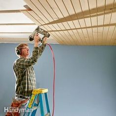 great way to cover up ugly textured ceilings... | For the Home ...