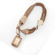 GREAT old  Antique Rose gold Locket Bracelet by vintagesparkles, $550.00