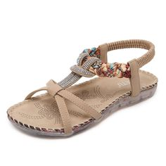Wendy_my @ Women Bohemia pearl Sandals Flats Bowknot Shoes * Continue to the product at the image link.