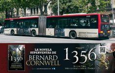 Paneles para la campaña de publicidad en medios de transporte urbanos del libro 1356 que he realizado para Ediciones Pàmies
