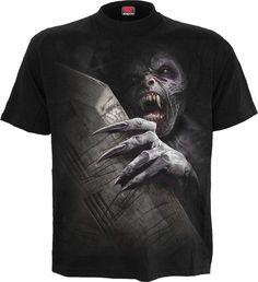 T Shirt Metall Ringe black schwarz Top S M L silber Ring Gothic shirt