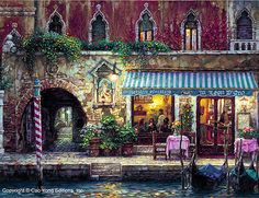 Venice Night by Cao Yong ~ Venice series