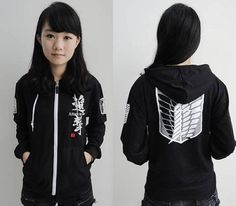 Attack On Titan Recon Corps Black Hooded by RedstarCosplay on Etsy