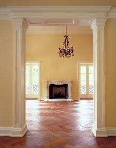 Herringbone hardwood floor