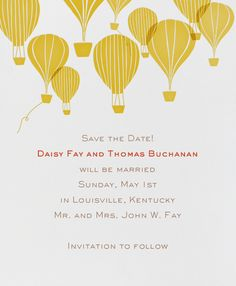 Hot Air Balloon Cluster by Paperless Post. Customize the perfect wedding save the date to match your personal style on paperlesspost.com.