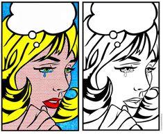 pop art coloring pages