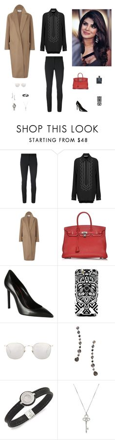 """Без названия #3357"" by gvarjusha ❤ liked on Polyvore featuring Veronica Beard, Christopher Kane, Amanda Wakeley, Hermès, Yves Saint Laurent, Furla, Chanel, Linda Farrow, Ippolita and Alor"
