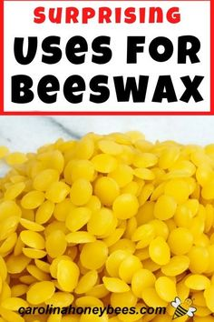 How many uses for beeswax in and around your home can you name?  There are many ways to use this natural was made by bees.   #carolinahoneybees #usesforbeeswax #beeswaxcrafts