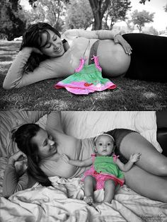 pregnancy photo ideas before and after baby