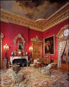 Red Drawing Room. Waddesdon Manor, Buckinghamshire England.