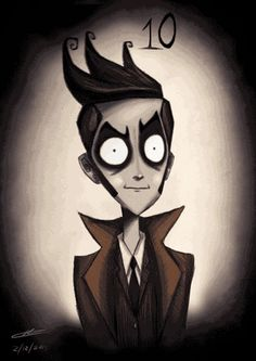Tenth-Doctor | Tim Burton-ized Doctor Who Characters Get Animated [Animated GIFs]