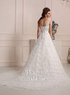 Sweetheart with Lace Strap Wedding Dress, Lace with Crystal Wedding Gown, Custom Bridal Wedding Dresses #Gown #Wedding $540.76 by theWhiteBridalRoom