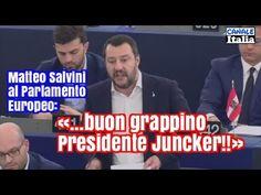 Matteo Salvini al Parlamento Europeo: «...buon grappino, Presidente Junc...