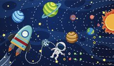 Find Astronaut Space Illustration stock images in HD and millions of other royalty-free stock photos, illustrations and vectors in the Shutterstock collection. Thousands of new, high-quality pictures added every day. Astronaut Illustration, Space Illustration, Space Party, Space Theme, Boys Space Bedroom, Astronauts In Space, Galaxy Art, Kid Spaces, In Kindergarten