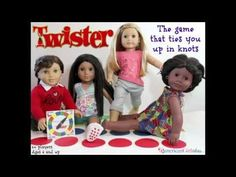 DIY American Girl Doll Twister Game - Doll Craft - YouTube