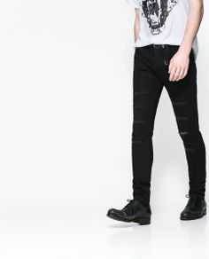 RIPPED SKINNY JEANS - Jeans - Man - NEW COLLECTION | ZARA Romania