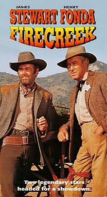 Firecreek is a 1968 western movie directed by Vincent McEveety and starring James Stewart and Henry Fonda in his second role as an antagonist that year. The film is similar to High Noon in that it features an entire town refusing to help a peace officer against outlaws, showing no backbone. Stewart plays an unlikely hero, forced into action when his conscience will not permit evil to continue.