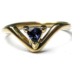 14k gold and benitoite gemstone ring, by EVB Fine Art Jewelry