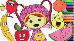 Team Umizoomi Education Video Coloring Page Learning English Fruits Name...