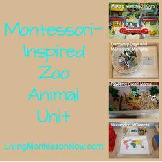 Montessori Monday – Montessori-Inspired Zoo Animal Unit