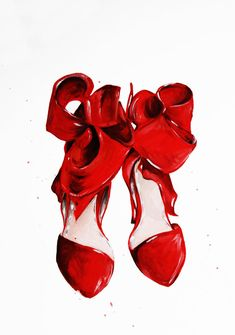 Hey, I found this really awesome Etsy listing at https://www.etsy.com/listing/167520099/the-red-shoes-print-of-original-fashion Talula Christian illustration. Gorgeous red heels. Fabulous!