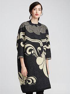 Cocoon floral wool coat   Marit Ilison   Marit Ilison   Simons
