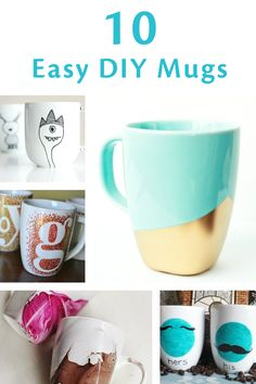 Warm your heart and hands with these 10 genius DIY mugs that are super easy to make! | handmade gift idea