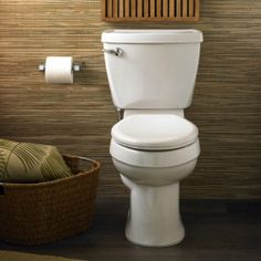 American Standard 2002.014.020 Champion-4 Right Height Elongated Two-Piece Toilet, White (seat not included) | Weekly Posts #WhiteCeramic #Toilet