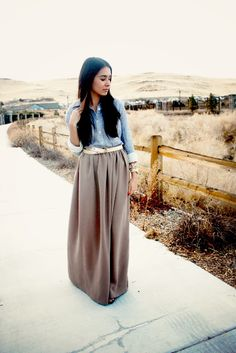 how to make a maxi skirt!
