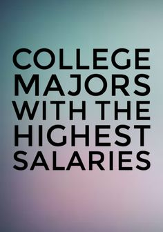 50 College Majors with the Highest Post-Grad Salaries. Visit my website YOGAMOYO.COM for more details. College Majors, College Hacks, School Hacks, College Life, College Invest, Study College, College Meals, School Tips, Land Rovers