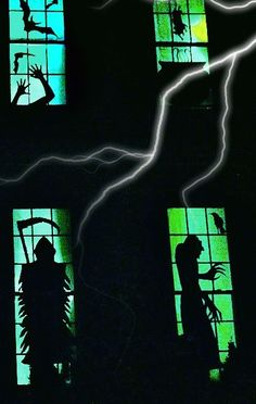 How to make scary DIY Halloween window silhouettes | via Snazzy Little Things
