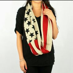 American flag infinity scarf American flag infinity scarf. Warm and comfy Accessories Scarves & Wraps