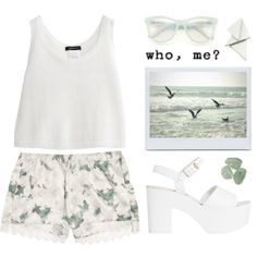 don't be sorry by just-nothing on Polyvore featuring polyvore fashion style Erdem Wildfox white summertime