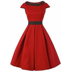 523f4880441 Chloe Red Black Size 16 Lindy Bop Vintage Style Dress New With Tags
