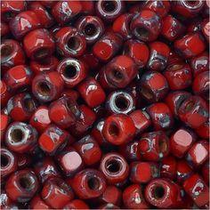Czech Glass, Tri-Cut 6/0 Matubo Seed Beads, 8 Grams, Opaque