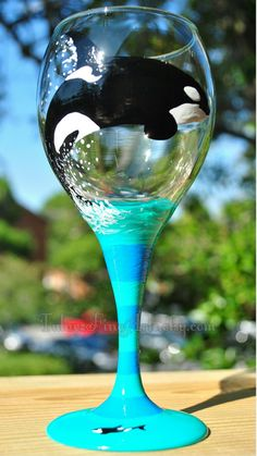 Hey, I found this really awesome Etsy listing at https://www.etsy.com/listing/183154490/hand-painted-orca-wine-glasses-killer