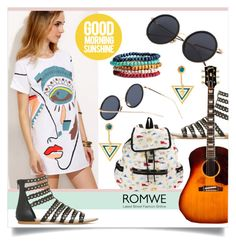 """""""ROMWE Sunglasses"""" by mahafromkailash ❤ liked on Polyvore featuring Noir Jewelry and LeSportsac"""